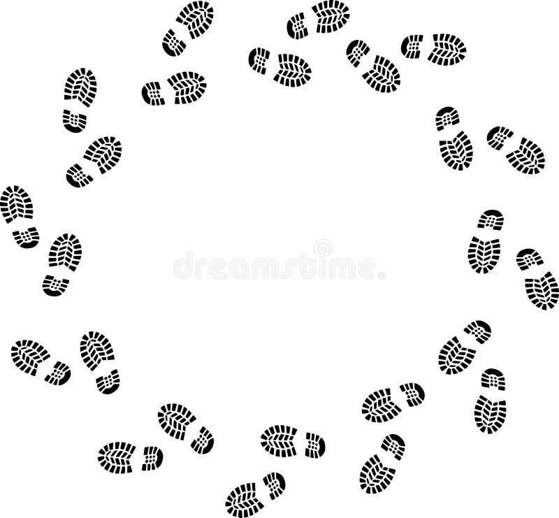 wokoło spaceru royalty ilustracja