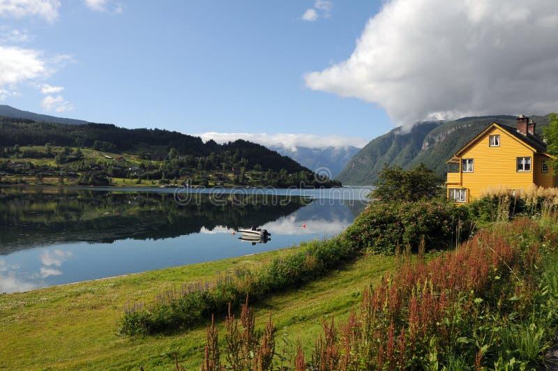 wokoło ziemi uprawnej hardangerfjord Norway fotografia royalty free