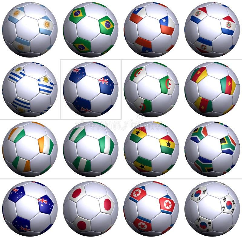 wold för fotboll för 16 africa koppnationer second södra royaltyfri illustrationer