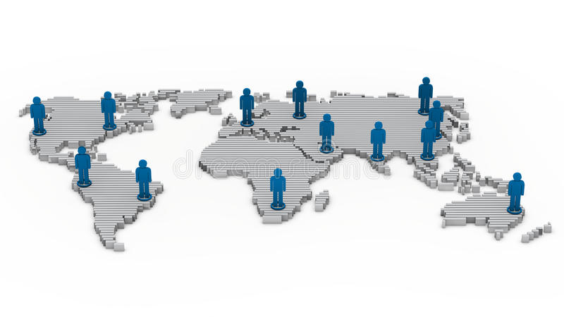 Wold map network people vector illustration