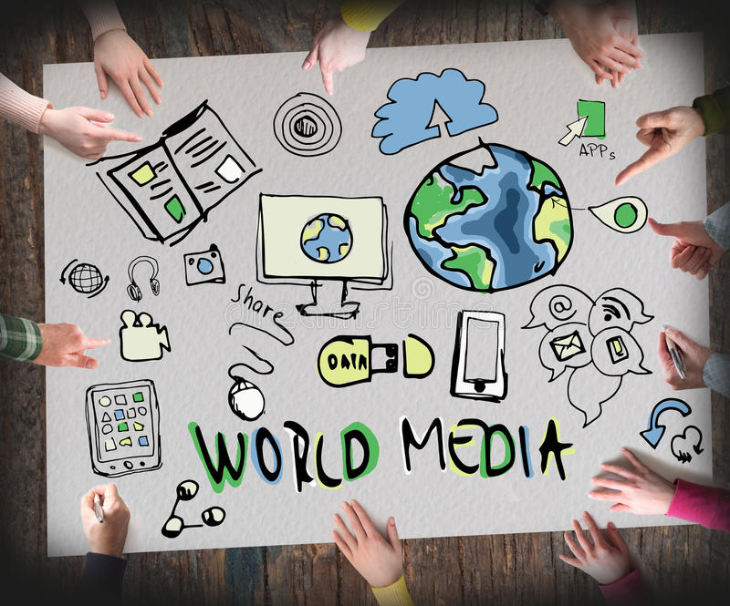 Wold media, Concept of Information royalty free stock photo