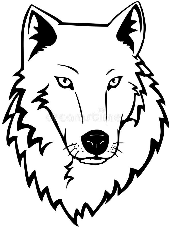 Download Wolf stock vector. Image of comic, cartoon, nature, lineart - 13970023