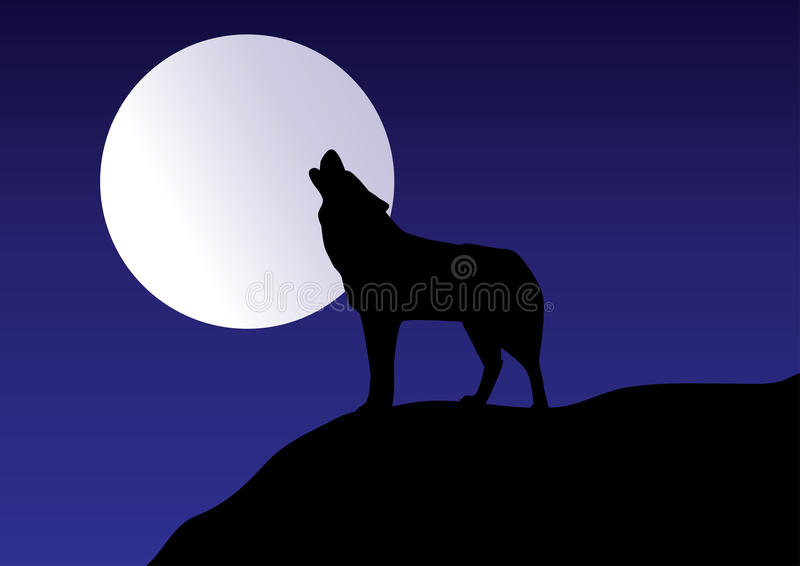 Download Wolf stock vector. Image of horizontal, illustration - 14798602