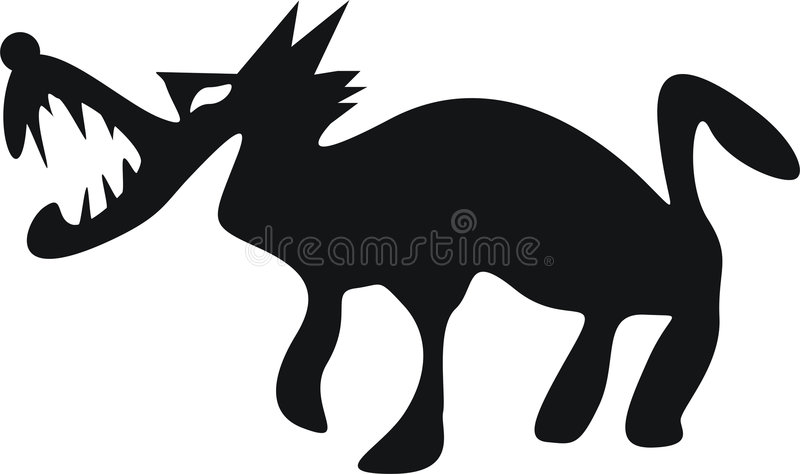 Download Wolf stock vector. Illustration of spelling, cartoon, danger - 1950852