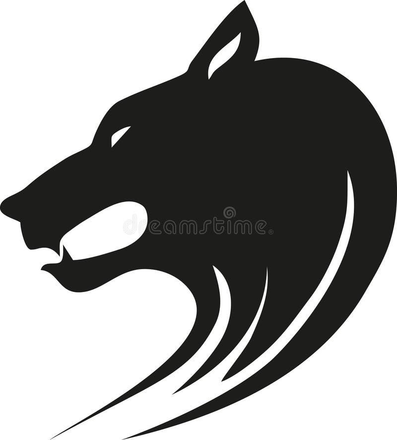 Wolf. Tribal wild wolf. Tattoo style royalty free illustration