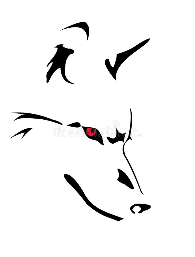 Download Wolf stock vector. Illustration of single, canine, cruel - 5026089