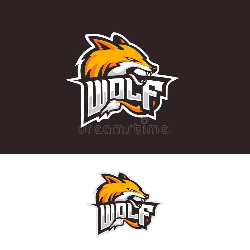 Wolf beast mascot Sport Logo vektor illustrationer