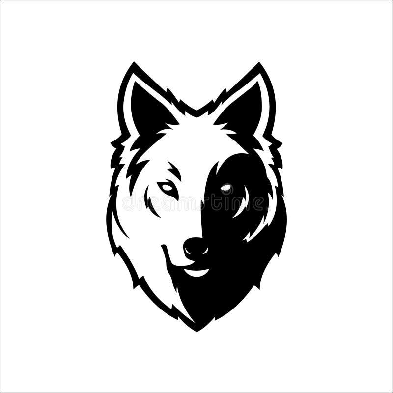 Wolf bolt Emblem, mascot head silhouette, sport logotype. Template for business or t-shirt design. Vector vector illustration
