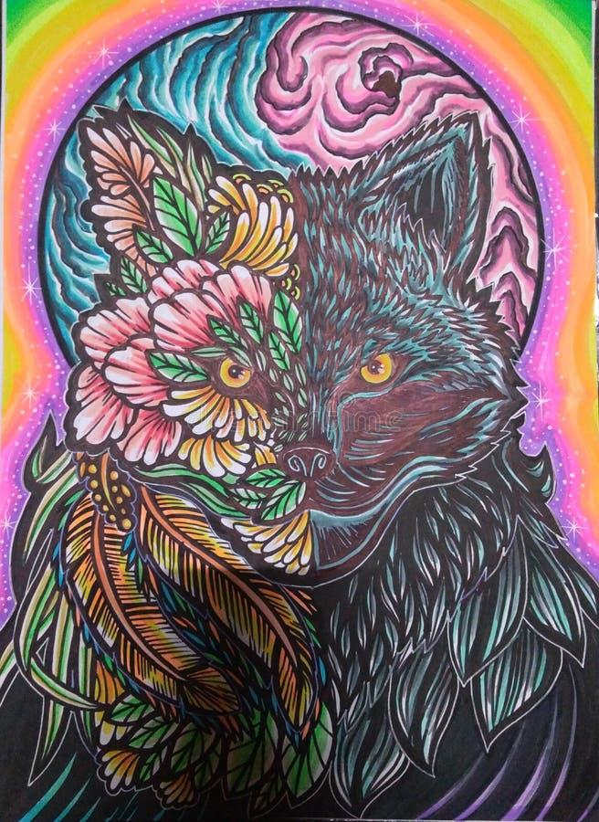 Wolf Cat royalty free stock photos