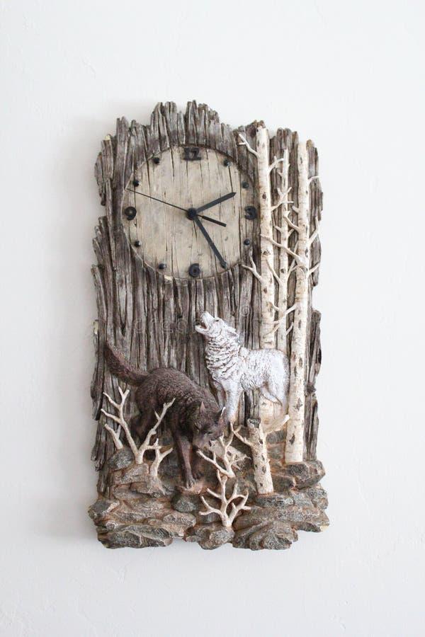 Wolf Clock stock photo