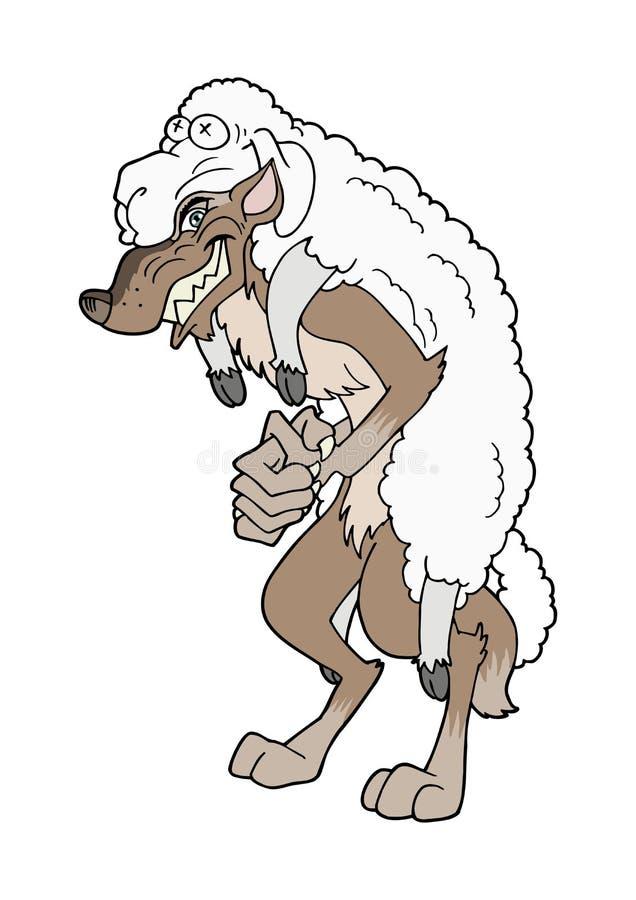 Wolf in de kleding van schapen stock illustratie