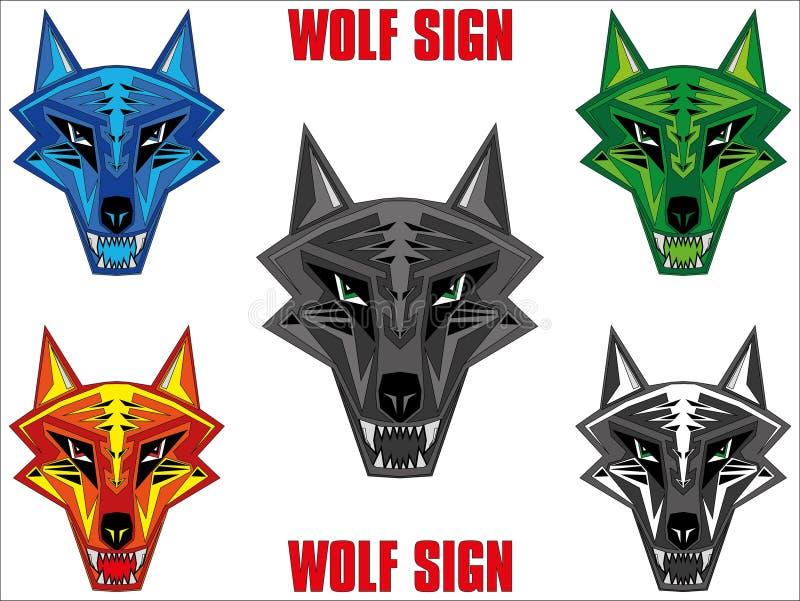 Download Wolf emblem stock illustration. Illustration of horror - 16062087