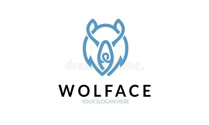 Wolf Face Logo ilustração do vetor