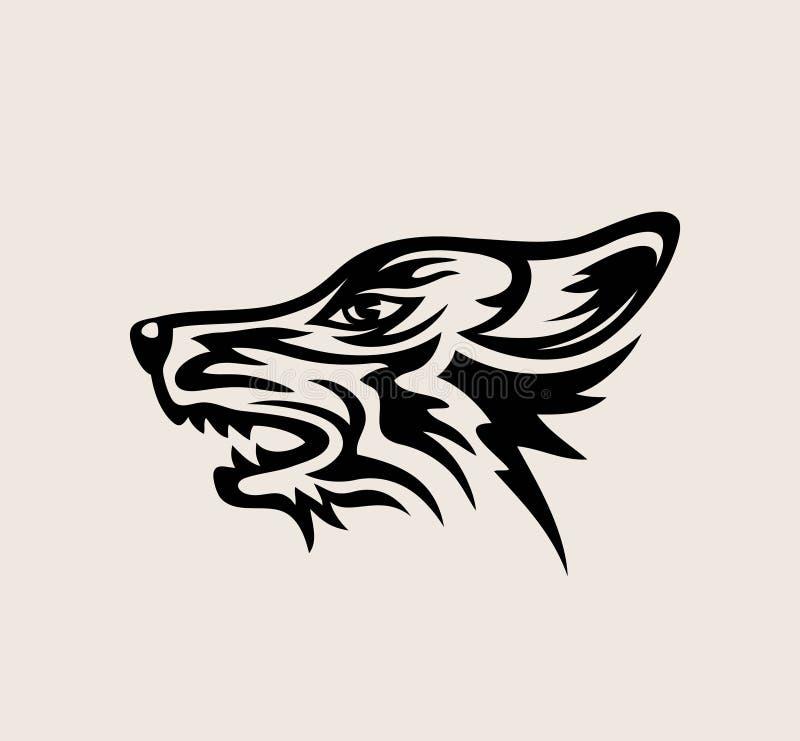 Wolf Face Logo, projeto do vetor da arte ilustração do vetor