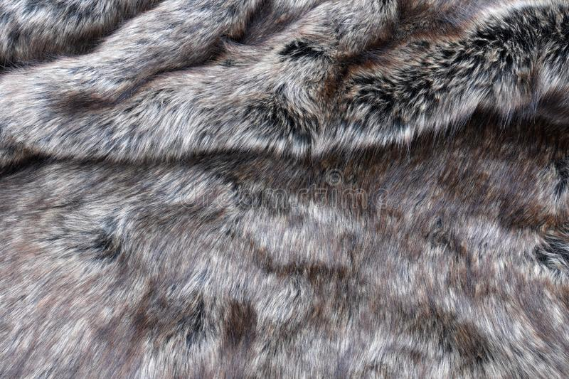 Wolf fake fur texture background royalty free stock image