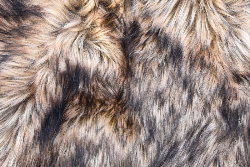 Wolf faux fur texture royalty free stock images