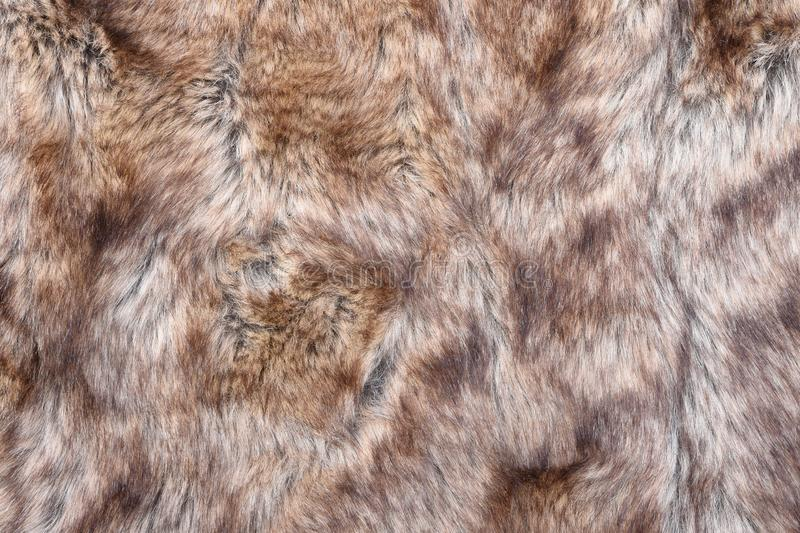 Wolf faux fur texture royalty free stock image
