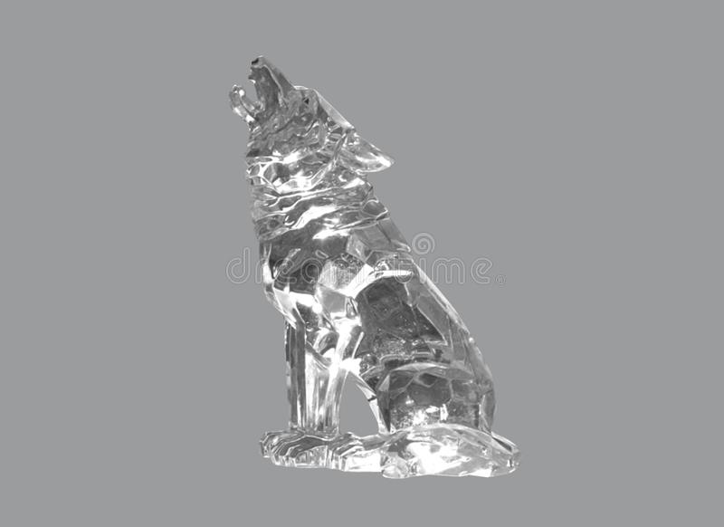 The wolf from glass royalty free stock photo