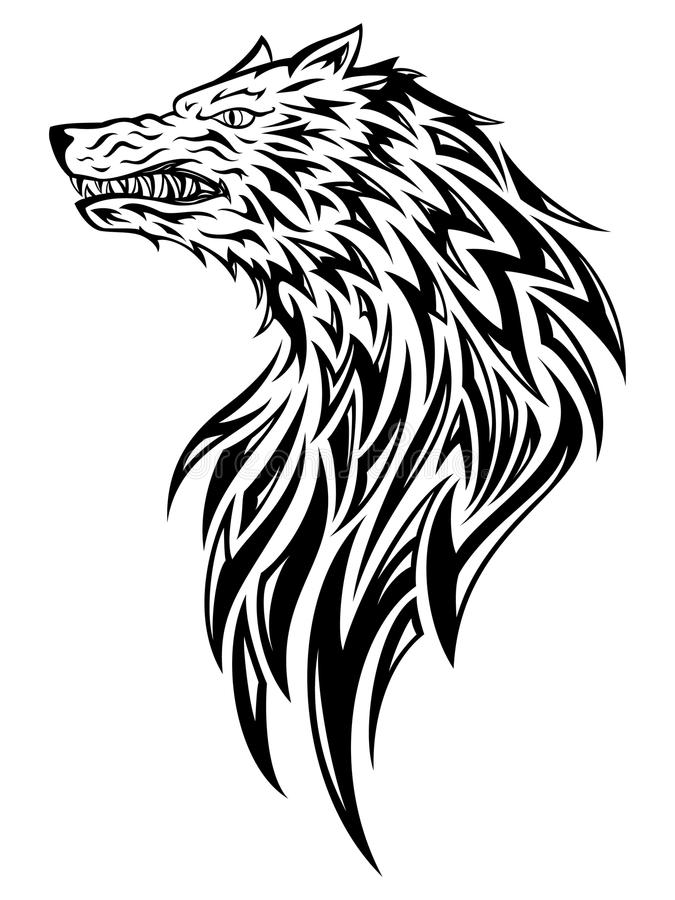 Wolf Head royalty free stock images