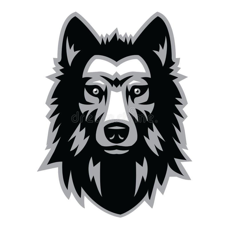 Wolf Head ilustração stock
