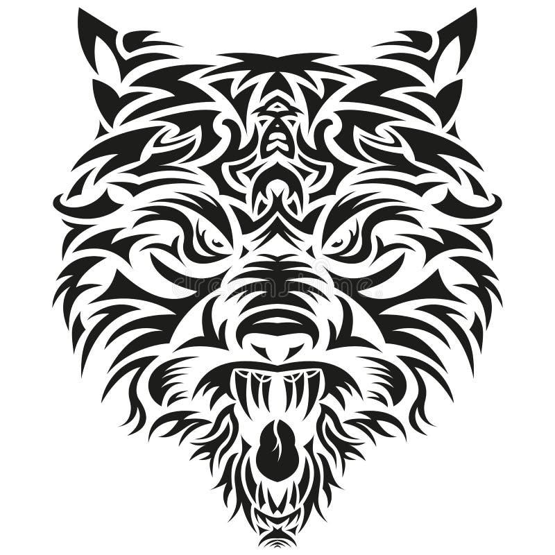 Wolf Head illustration de vecteur