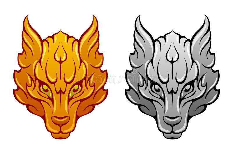 Wolf Head ilustração royalty free