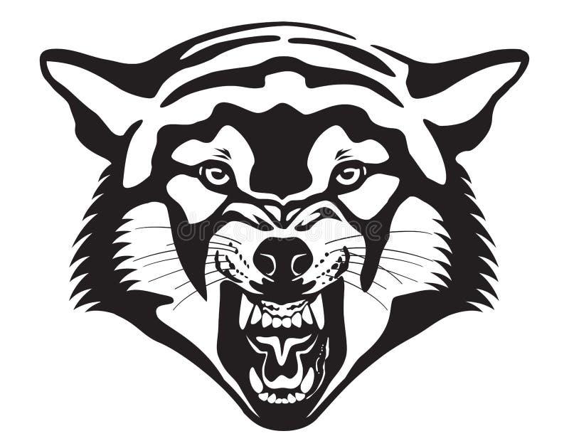 Wolf Head Ilustración ilustración del vector
