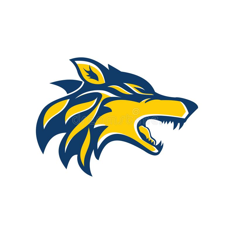 Wolf Head Logo of illustratie royalty-vrije illustratie