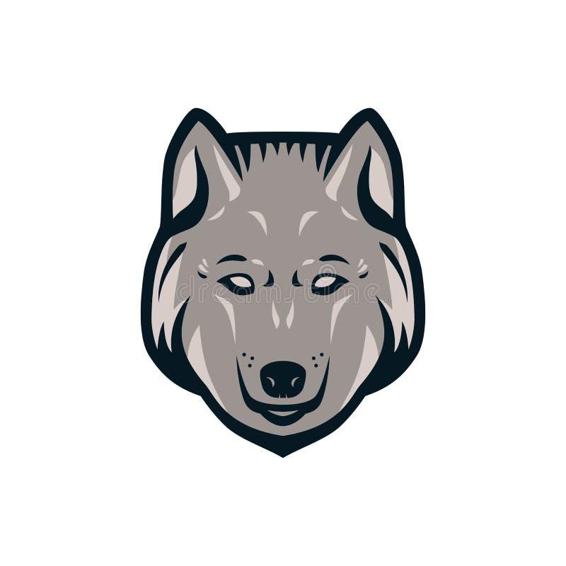 Wolf head logo. royalty free stock image