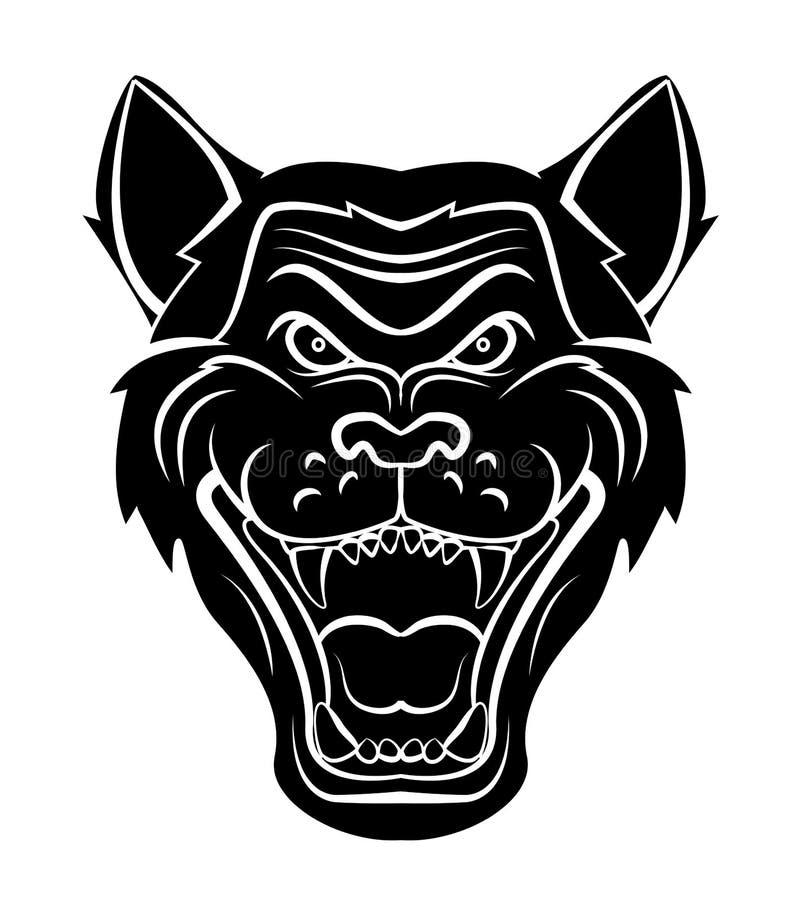 Wolf Head Tattoo royalty free illustration