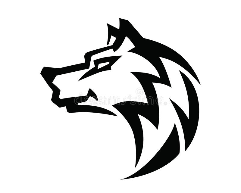 wolf head vector stock vector illustration of logo snout 69989207 rh dreamstime com wolf's head oil logo blue wolf head logo