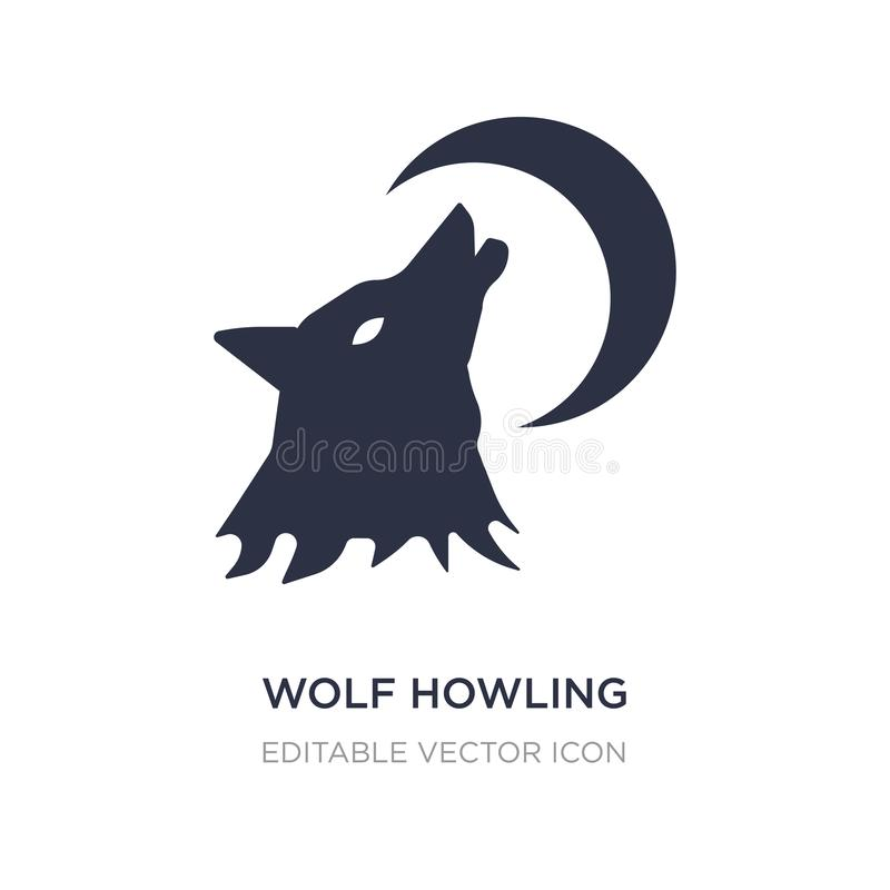 wolf howling icon on white background. Simple element illustration from General concept royalty free illustration
