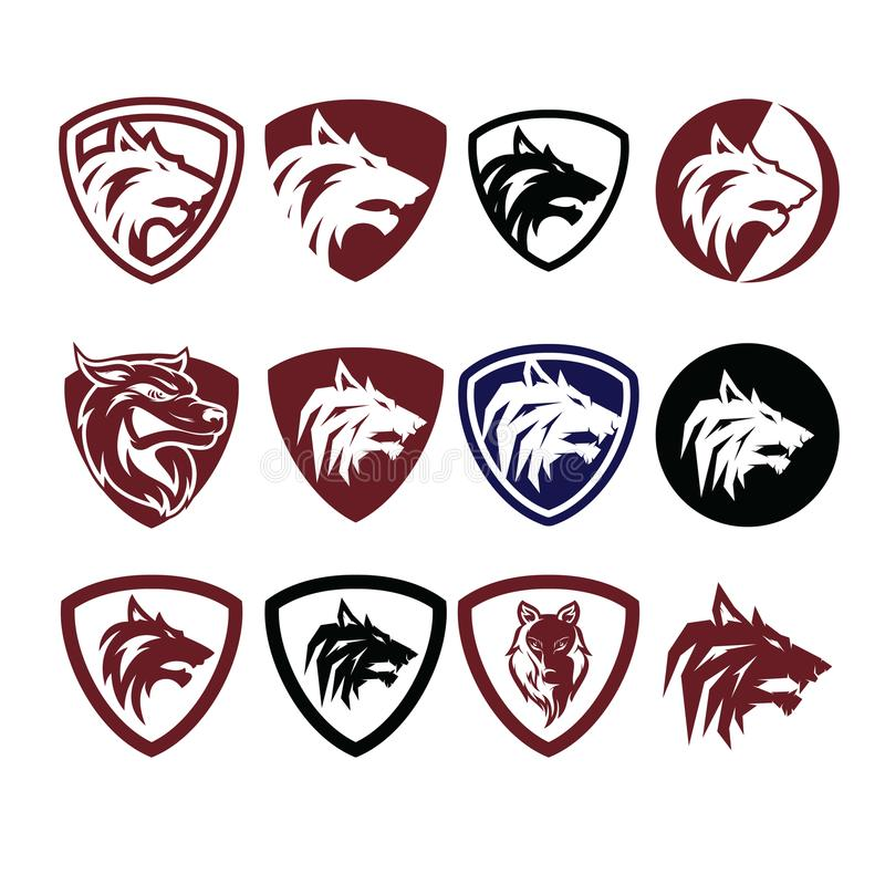 Wolf Icon Logo Vector stock fotografie