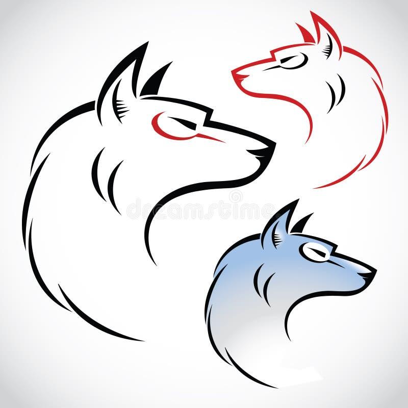 Download Wolf illustration stock vector. Image of black, emblem - 26467924