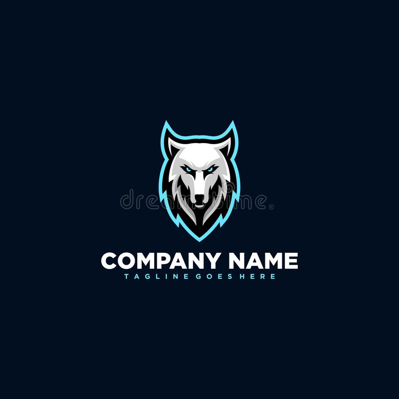 Wolf illustration Design vector template royalty free illustration