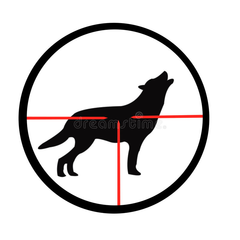 Free Wolf In Optical Sight Royalty Free Stock Photo - 16902045
