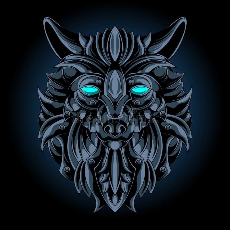 Wolf iron emblem stock illustration