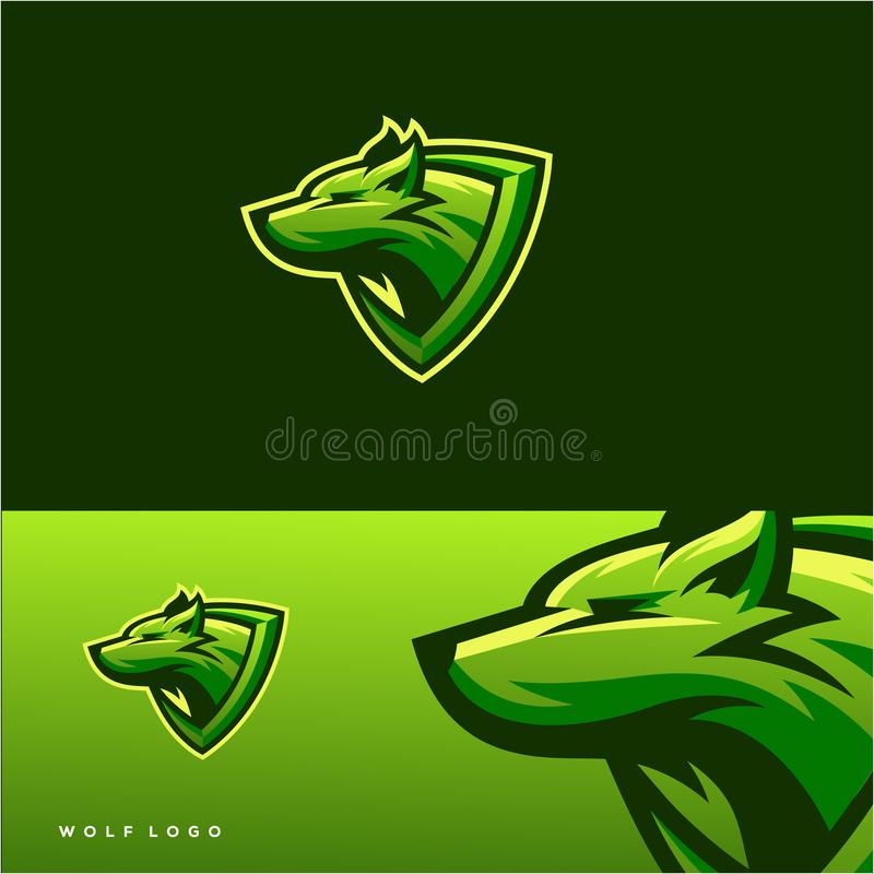 Awesome wolf logo design vector illustration