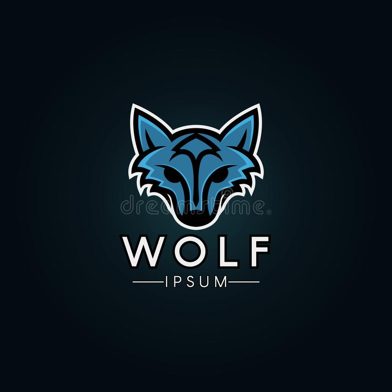 Wolf Logo Template. Modern wolf logo for a sport team vector illustration