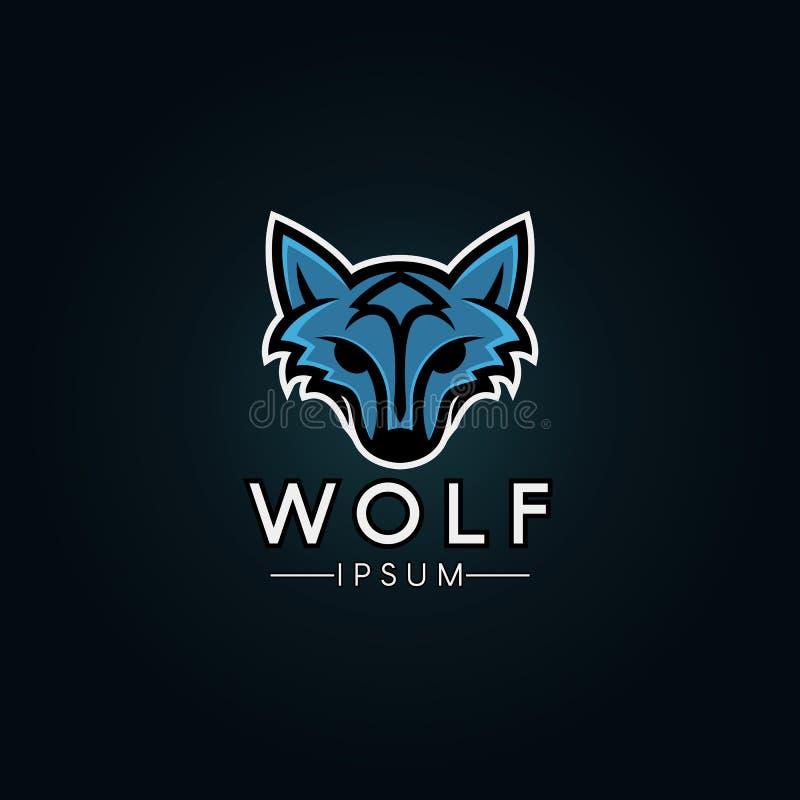 Wolf Logo Template Modernes Wolflogo für ein Sportteam vektor abbildung