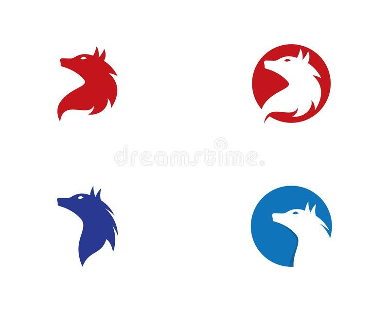 Wolf Logo Template stock illustration