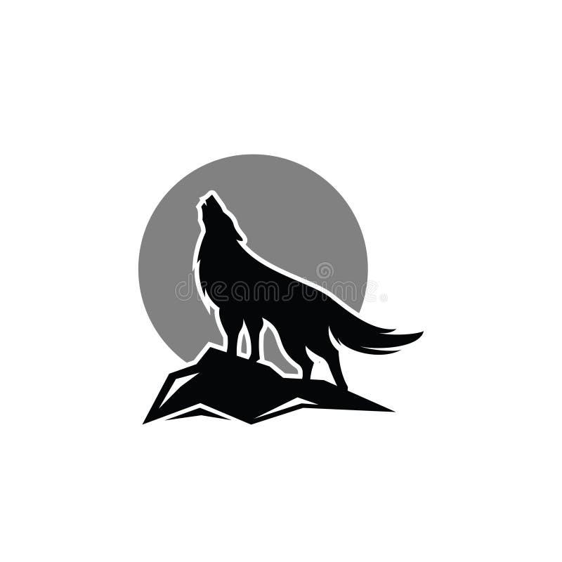 Wolf Logo Vector illustrazione di stock