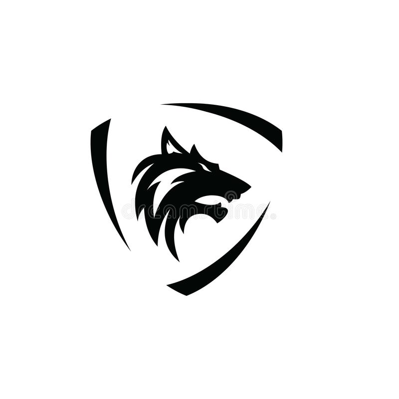 Wolf Logo Vector illustration libre de droits