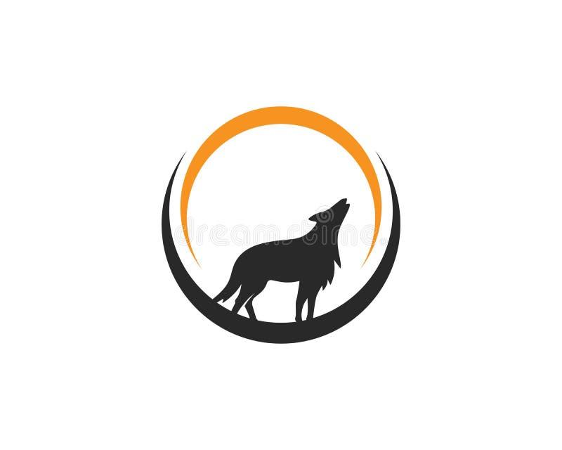 Wolf Logo Vector ilustración del vector