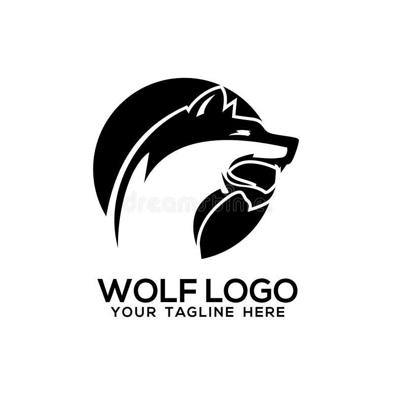 Wolf Logo Vector Art Logo Template en Illustratie royalty-vrije illustratie