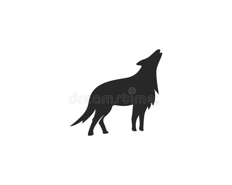 Wolf Logo vector. Template royalty free illustration