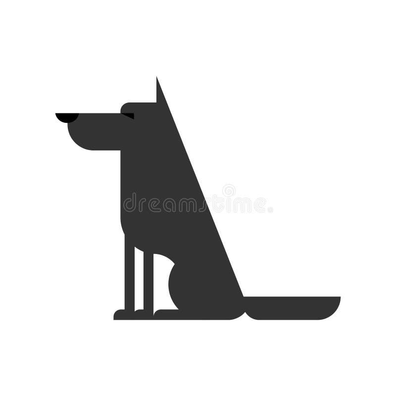 Wolf lokalisiert Waldraubtier Vektorillustration lizenzfreie abbildung