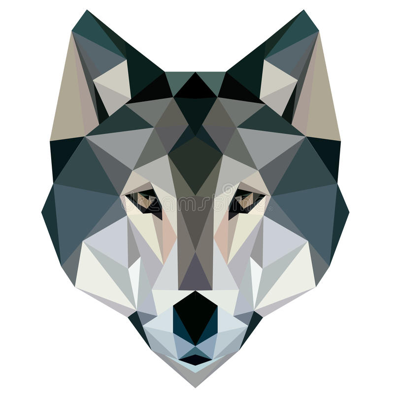 Free Wolf Low Poly Design Geometric, Vector Animal Illustration Face Logo Icon Royalty Free Stock Image - 72379446
