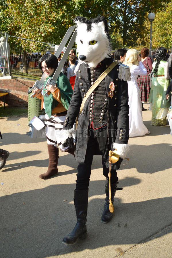 Wolf at Lucca Comics and Games 2014 royalty free stock photos