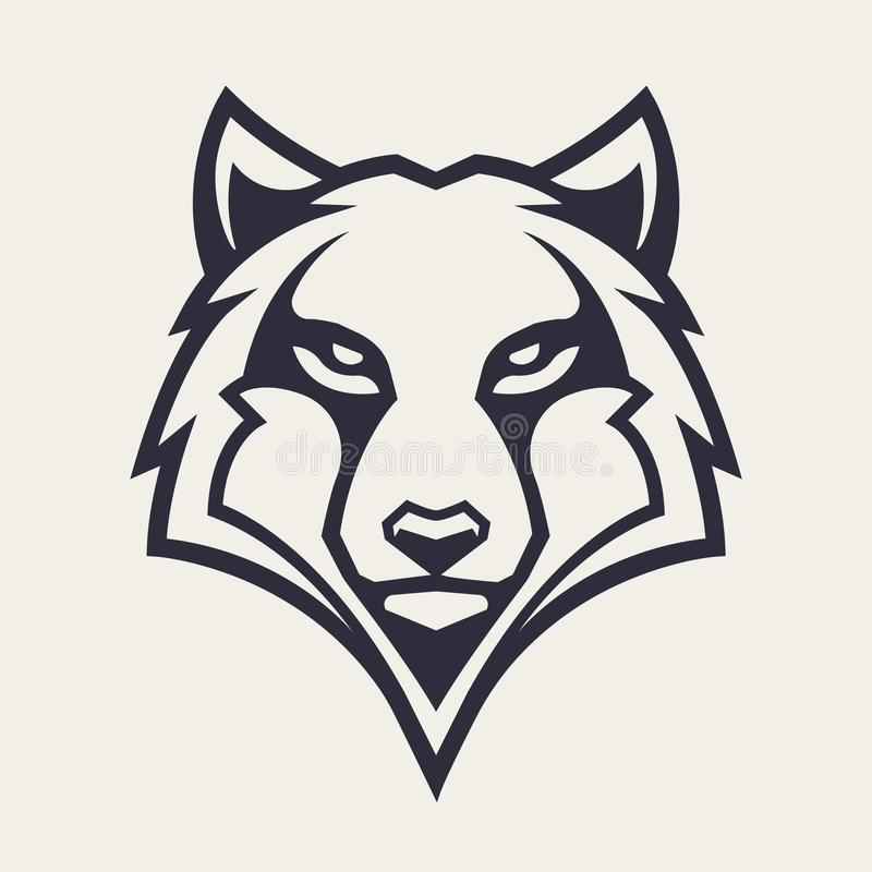 Wolf Mascot Vector Icon stock illustrationer